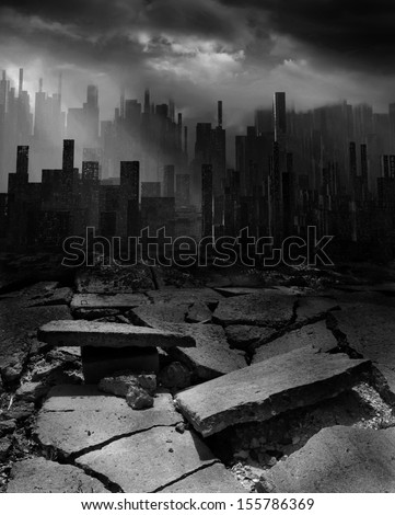 Apocalypse - stock photo