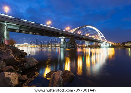 Apollo Bridge Bratislava - stock photo