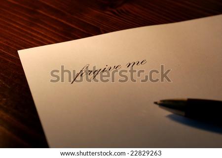 apologizing letter - stock photo
