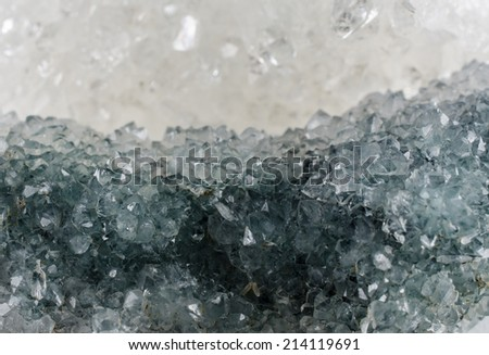 apophyllite macro (blue-green and clear)