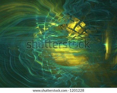 Apophysis abstract, best viewed full size, many details - stock photo