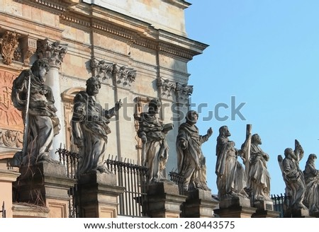 Apostles Peter and Paul, Krakow. - stock photo