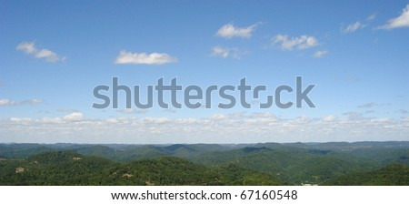 Appalachian Mountains, viewed from Pine Mountain lookout - stock photo