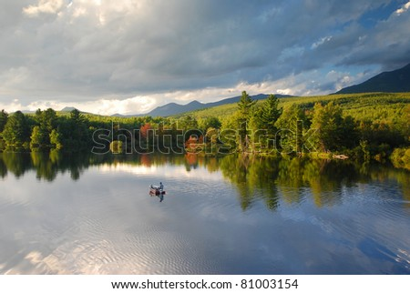 Appalachian Trail in Maine - stock photo
