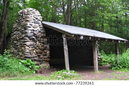 Appalachian Trail in Vermont - stock photo