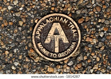 Appalachian Trail Marker - stock photo