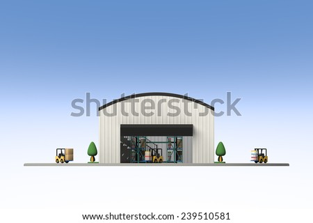 Appearance of warehouse - stock photo