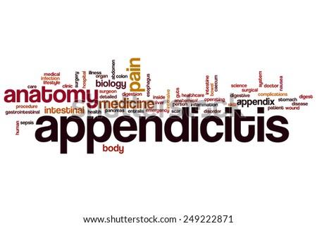 Appendicitis word cloud concept - stock photo