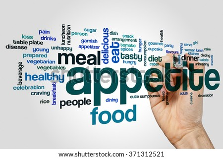Appetite word cloud - stock photo