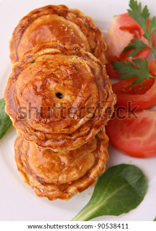 appetizer, baked puff - stock photo