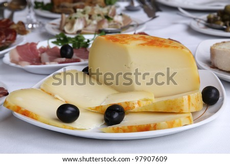 appetizer - cheese - stock photo