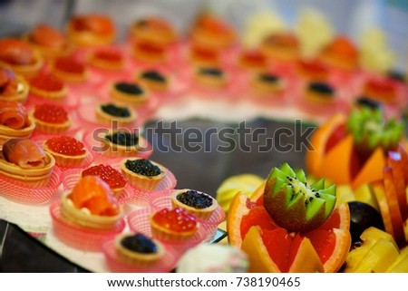 Appetizer for a light reception