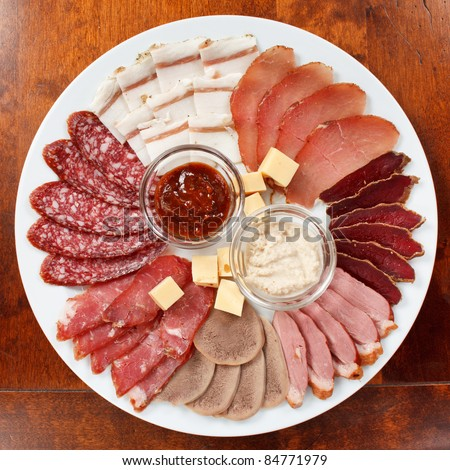 appetizer from meat - stock photo