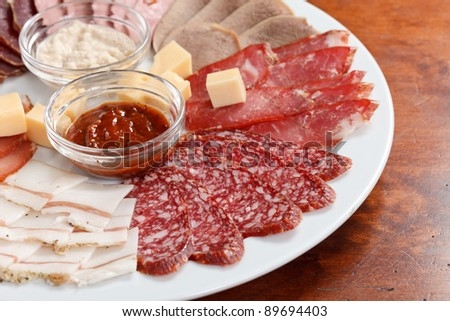 appetizer from meat
