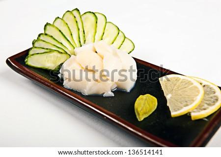 appetizer scallop sashimi - stock photo