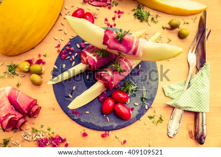 appetizer setting - stock photo
