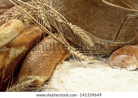 Appetizing, fragrant, beautiful, fresh and tasty bread.