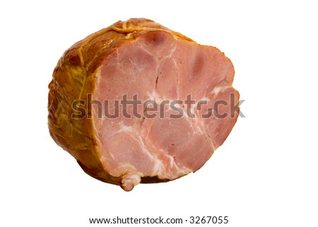 Appetizing piece of smoked meat - stock photo