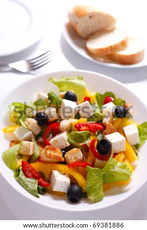 Appetizing  salad on a plate