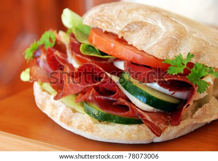 appetizing sandwich - stock photo