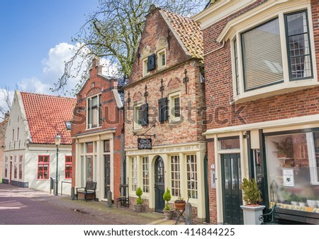 APPINGEDAM, NETHERLANDS - APRIL 16, 2016: Old buildings in the center