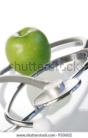 apple a day - stock photo