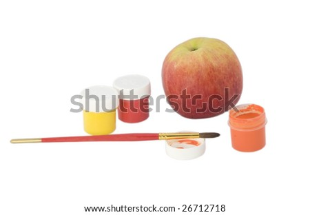 Apple and colours - stock photo