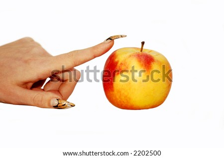 apple and females hand