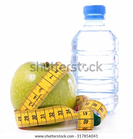 apple and water bottle