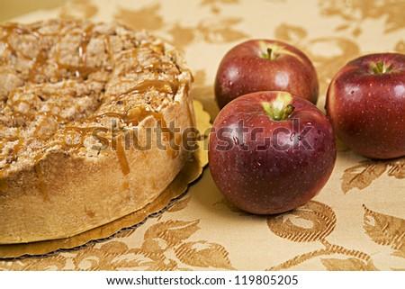 Apple Bavarian Cheesecake - stock photo