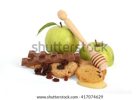 apple biscuits - stock photo