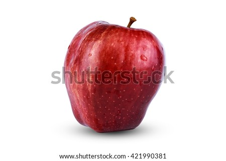 Apple bright On a white background