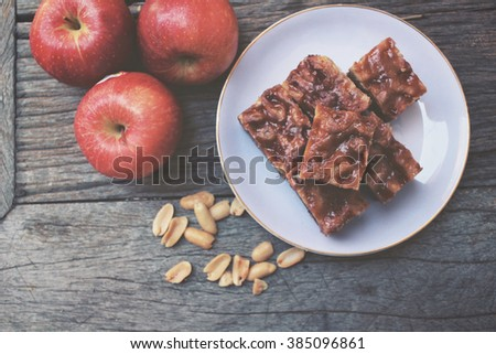 Apple cake - stock photo