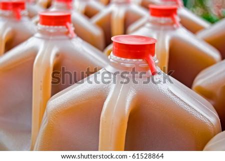 apple cider in gallon jug - stock photo
