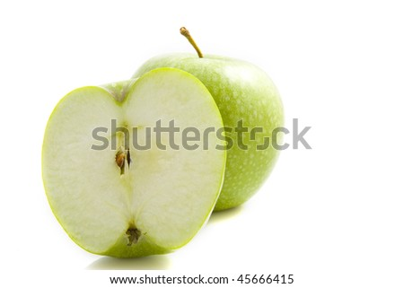 Apple close uip isolated on a white background