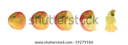 Apple collage. - stock photo