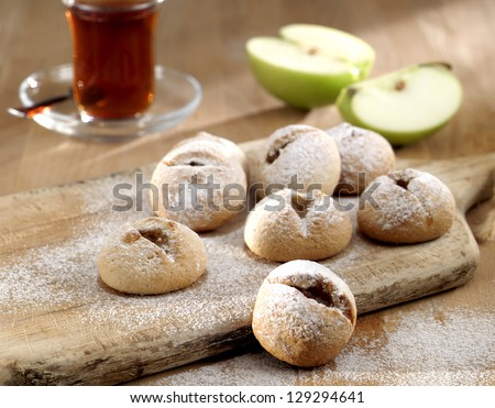apple cookie - stock photo
