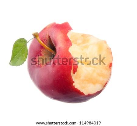 apple core - stock photo