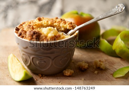 Apple Crumble Dessert - stock photo