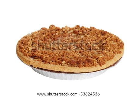 apple crumble pie - stock photo