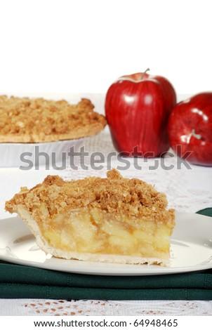 apple crumble with fresh fruit - stock photo