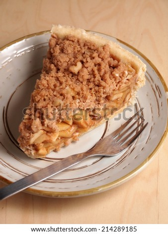 Apple Crumbles pie, home made bakery - stock photo