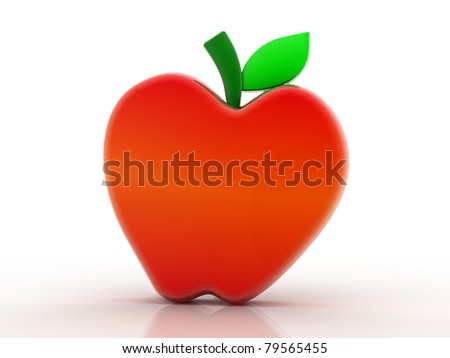 Apple 3D - stock photo