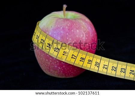apple diet - a fruit day, a must for all who are figure conscious - stock photo