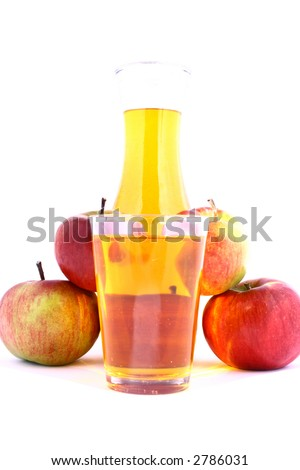 apple drink - stock photo