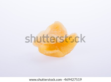apple dry or dried apple slices on background