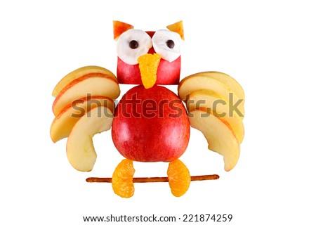 apple eagle owl - stock photo