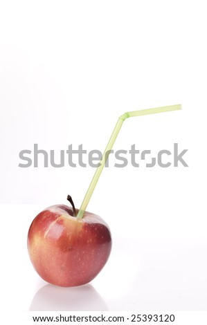 Apple food isolated over white background