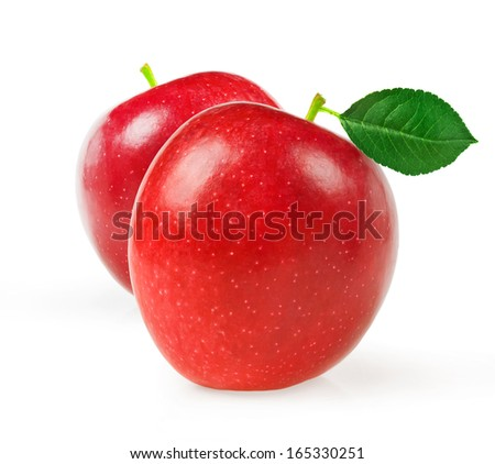 apple fruit closeup isolated on white background