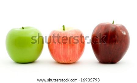 apple fruit - plastic model studio isolated